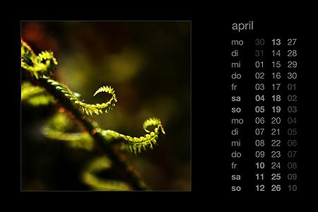 kalenderblatt april